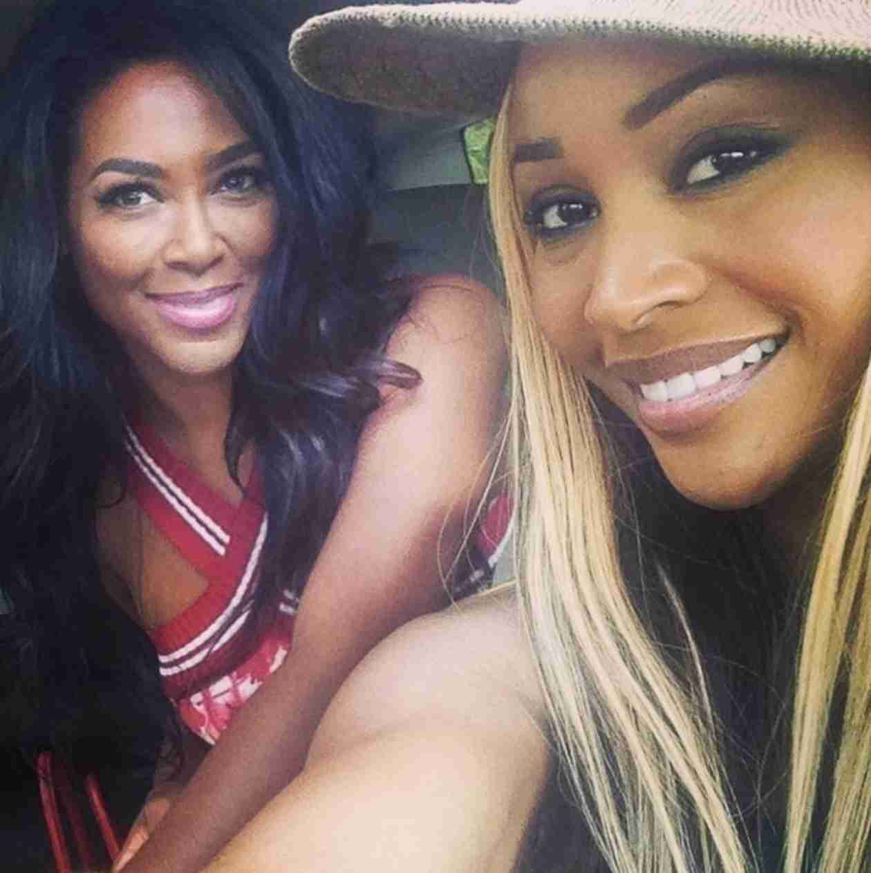 Kenya Moore Supports Cynthia Bailey at the Opening of Peter Thomas' Sports One