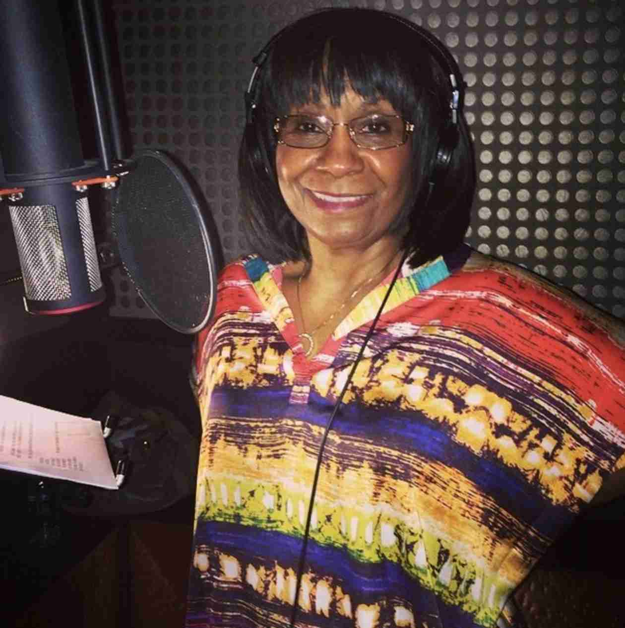 You'll Never Guess Why Mama Joyce Is in the Recording Studio! (PHOTO)