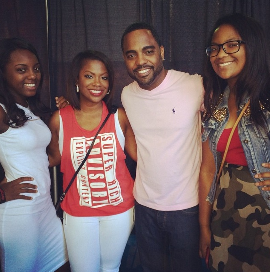 Kandi Burruss, Todd Tucker, and Their Daughters Complete ALS Ice Bucket Challenge