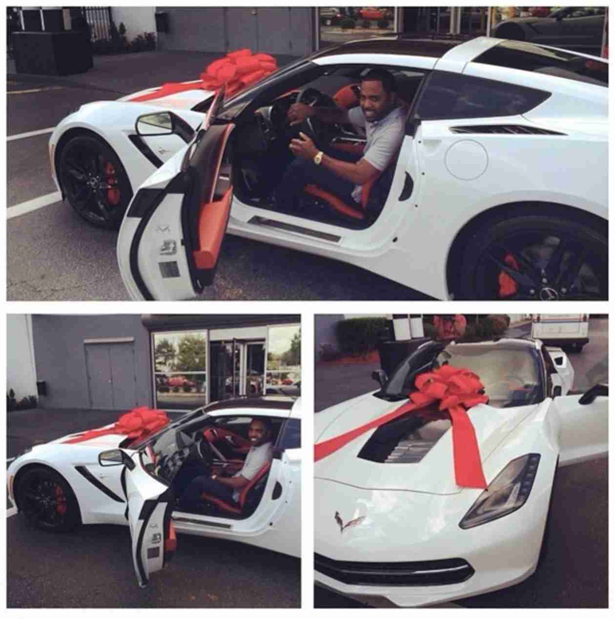 Kandi Burruss Buys Todd Tucker a Corvette For His Birthday (PHOTOS)