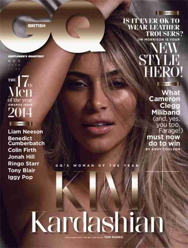 Topless Kim Kardashian Covers British GQ — See Her Sultry Photo! (VIDEO)