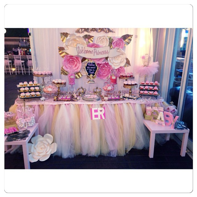 yandy smith has a princess ballerina themed baby shower photos