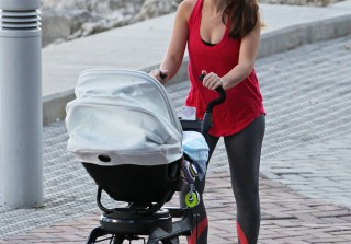 Ashley Hebert Goes Makeup Free During Walk With Baby Fordham (PHOTOS)