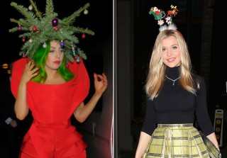 Craziest Celeb Holiday Looks: Hot Dresses and Ugly Sweaters! (PHOTOS)