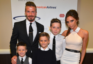 David and Victoria Beckham Welcome \