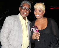 NeNe Leakes and her ex-husband Gregg Leakes celebrate her 45th birthday at Crustacean in Los Angeles, CA