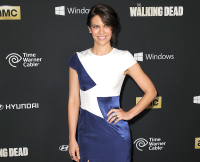 Red carpet arrivals at the season four premiere of AMC's 'The Walking Dead'