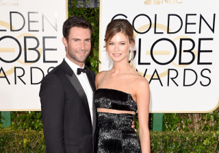 LOL! Adam Levine, Behati Prinsloo Show Off Matching Baby Bumps (PHOTO)