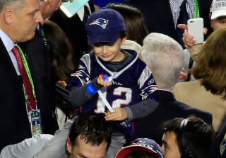 Tom Brady Celebrates Fourth Super Bowl Win With Wife and Sons (PHOTOS)