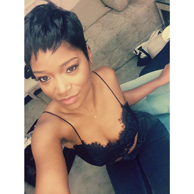 keke palmer goes blonde � after going red with cute pixie