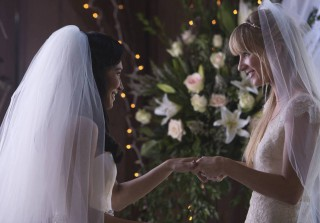 Glee Season 6: See Photos of Brittany and Santana's Wedding!