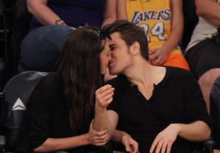 Paul Wesley and Phoebe Tonkin Kiss at L.A. Lakers Game (PHOTOS)
