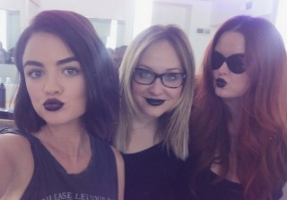 Pretty Little Liars Star Lucy Hale Goes Goth Chic