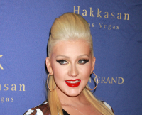 Christina Aguilera at Hakkasan Nightclub Las Vegas