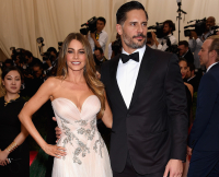 Sofia in Marchesa, Joe in Ermenegildo Zegna
