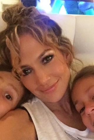 Jennifer Lopez and Her Kids, Emme and Maximilian