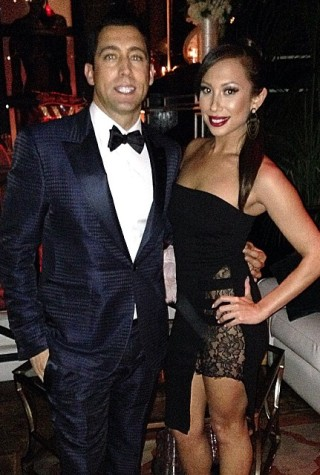Cheryl Burke and boyfriend JT Torregiani welcome New Year 2015.