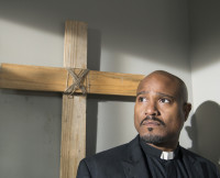 Father Gabriel in The Walking Dead Season 5.
