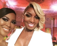 Kenya Moore and NeNe Leakes pose after the RHOA Reunion.