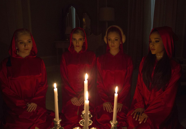Scream Queens Season 1: Chanel #5, Chanel Oberlin, Chanel #3, and Chanel #2 Light Candles