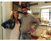 Brandon and Leah Jenner Sport Matching Baby Bumps