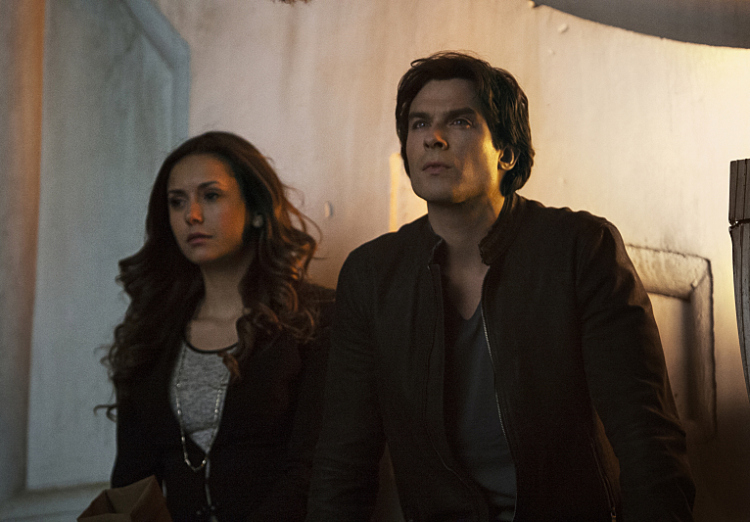 "Elena and Damon in Season 6, Episode 20 (""I'd Leave My Happy Home For You"")"