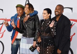 Kim Kardashian\'s Dress Catches Fire, Pharrell Saves the Day