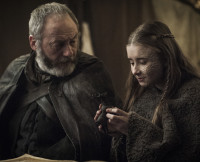 Davos and Shireen on Game of Thrones Season 5, Episode 9