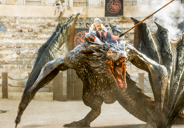 Dany Climbs on Drogon on Game of Thrones Season 5, Episode 9