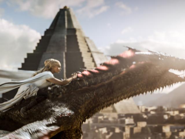 Dany Rides Drogon on Game of Thrones Season 5, Episode 9