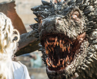 Drogon on Game of Thrones Season 5, Episode 9