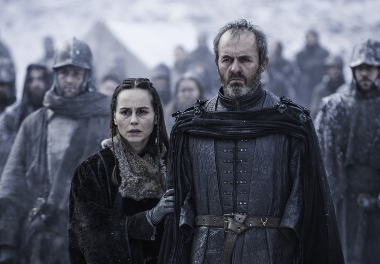 Stannis and Selyse on Game of Thrones Season 5, Episode 9