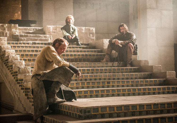 Jorah, Tyrion, and Daario