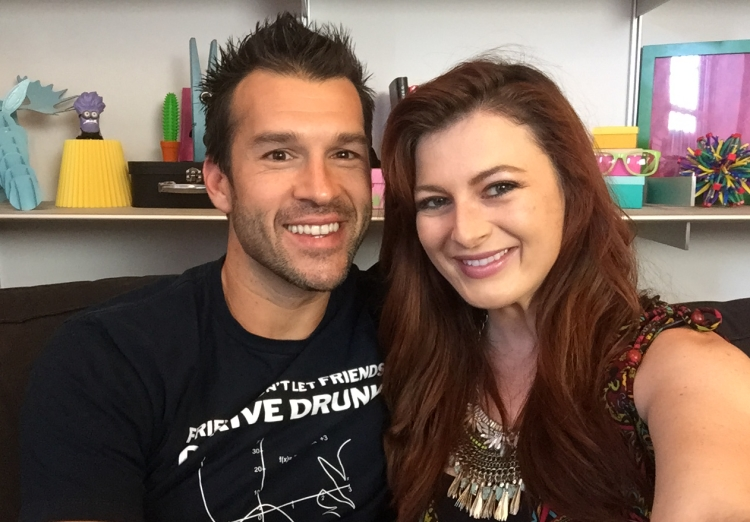 Big Brother's Brendon Villegas and Rachel Reilly in the Wetpaint Offices