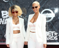 Blac Chyna and Amber Rose at 2015 BET Awards
