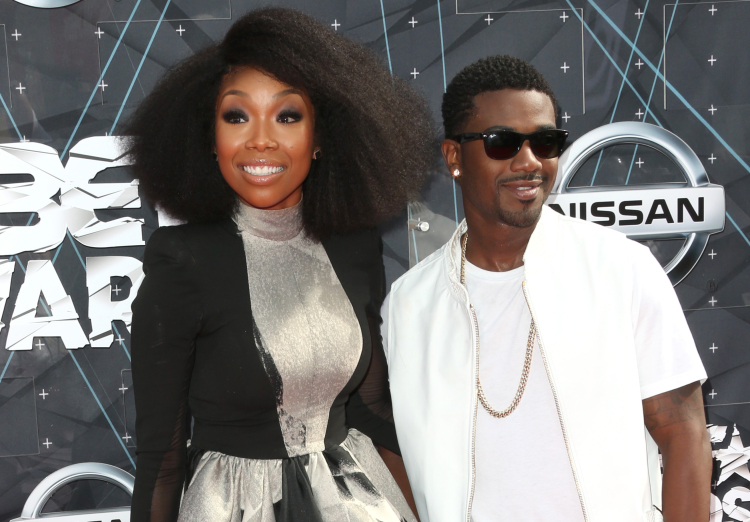 Brandy and Ray J at 2015 BET Awards