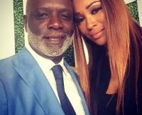 Peter Thomas and Cynthia Bailey at  Debra L. Lee's Pre-BET Awards Dinner on June 24, 2015