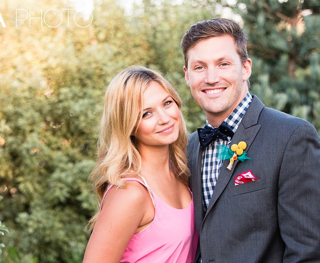 Vanessa Ray with cool, Husband  Derek Baynham