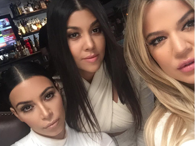 Kim Kardashian, Khloe, and Kourtney