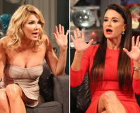 Brandi Glanville and Kyle Richards fight at the Real Housewives of Beverly Hills Season 5 reunion.