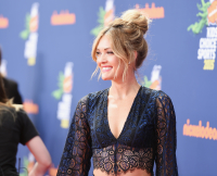 Amy Purdy from Dancing With the Stars at Kids' Choice Awards
