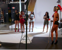 Stevie J., Nikko, and Margeaux at the Days Photoshoot on LHHATL Season 4, Episode 13