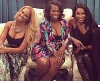 Amiyah Scott and Kandi Burruss film together.