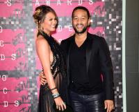 Chrissy Teigen and John Legend at 2015 MTV VMAs