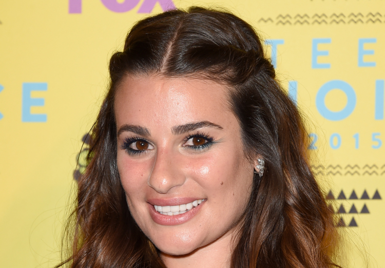 Lea Michele poses in the press room during the Teen Choice Awards 2015 at the USC Galen Center on August 16, 2015 in Los Angeles, California.