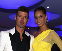Robin Thicke and Girlfriend April Love Geary at The 68th Annual Cannes Film Festival