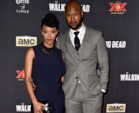 Sonequa Martin-Green and Kenric Green at The Walking Dead Season 5 Premiere