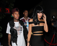 Kylie Jenner and Tyga arriving at Ysabel in West Hollywood