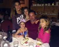 Joe Giudice and His Daughters