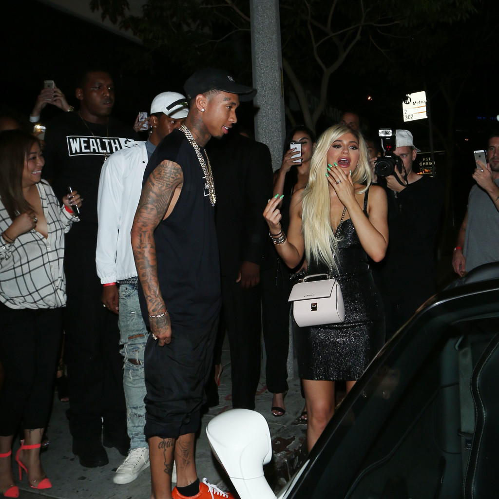 Tyga Gives Kylie Jenner A Ferrari For Her 18th Birthday